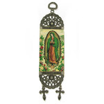 "TST33 Our Lady Guadalupe Tapestry Icon  Banner For Wall & Door Decoration 7""x2"""