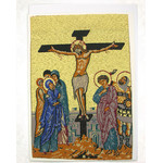 TGC51 Crucifixion Tapestry Icon Greeting Card w/Envelope - Icon Can Be Framed