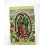 TGC84 Lady of Guadalupe Tapestry Icon Greeting Card w/Envelope - Icon Can Be Framed
