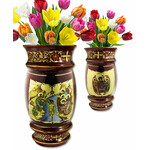 ANA1-1RBT Icon Flower Vase Baptism of Christ & Holy Trinity NEW!