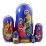 """M-73 Hand Painted Nativity Doll Christmas Gift 7""""x4"""""""