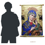 "TXL-1 Beautiful Large Tapestry Icon Our Lady of Perpetual Help XLG Size  24 1/2"" NEW!!!"