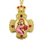 CR-2-17 Virgin of Vladimir Wall Icon Cross Ornament NEW!