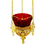 3410065 Heavy Gold Plated Hanging Lamp NEW!