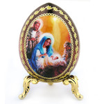 IED-4-5 Nativity of Christ Icon Egg with Gold Stand NEW !