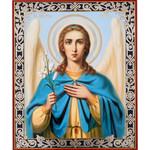 "IR-524 St Gabriel Icon Angel 8 3/4""x7 1/4"""