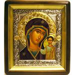 """IR-756F Virgin of Kazan Wooden Frame Glass NEW!! 11 1/4""""x10"""""""