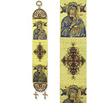 "TSL88 Virgin of Perpetual Help Tapestry Icon Banner  13""x2"" Wall Door Decoration"