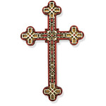 "WD-15 Wood Laser Cut Cross NEW!! 7 1/2""x4 3/4"""