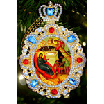 M-8-63 Jeweled Framed Icon icon Pendant Nativity of Christ NEW!!