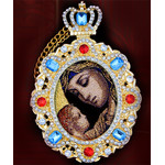 M-8-T4 Framed Icon Pendant Virgin of Tenderness NEW