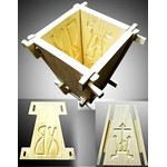 """2480081 Wooden Cheese Mold NEW 4 1/2""""x6"""""""
