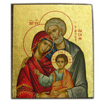 "TMS483A Holy Family Magnet Serigraph Greek Icon 2 1/4""x2"""