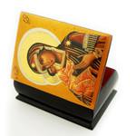 "DIB-VB Virgin Of Vladimir Decoupage Icon Box NEW!! 2 5/8""x2"""