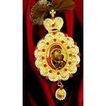 M-10-A St Ann Icon Pendant Room Car Christmas Tree Decoration w Chain