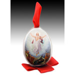 "SK-4 Easter Porcelain Egg Resurrection of Christ ""XB Christ Is Risen NEW!! 3""x 2 1/2"""