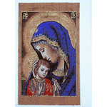 TGC94 Madonna & Child Tapestry Icon Greeting Card w/Envelope - Icon Can Be Framed