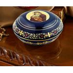 "ANA105BV Ceramic Keepsake Jewelery Rosary Case 5"""