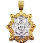 EC-101 Sterling Silver 925 22kt Gold Gilded Inexhaustible Cup Medal Pendant