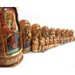"Doll-HP  Icons of the Virgin Mary 50 Nested Matrushka Doll - 50 Different Icons of the Theotokos (the Mother of God) 26 1/2""x12"""