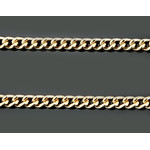 "GP2517-18 Sterling Silver 24kt Gold Plated Chain 18"" Great Quality Will Not Tarnish! NEW"