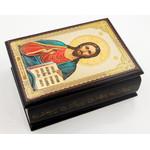 "IBX-5-C Christ The Teacher Rosary Keepsake  Icon Box NEW   3 3/4""x2 1/2"""