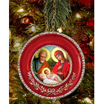 "M-16R-N  Nativity of Christ Icon Pendant NEW! W Chain and Stand Gift Box 2 5/8""x2 5/8"""