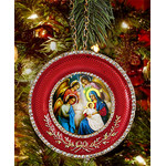 "M-16R-NA Nativity of Christ Icon Pendant NEW! W Chain and Stand Gift Box 2 5/8""x2 5/8"""