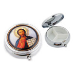 PB2-3  Christ The Teacher Icon Pill Box NEW!! 2""