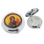 PB2-4 Madonna & Child  Icon Pill Box NEW!! 2""
