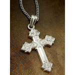 "S691RH-S1724-18 Sterling Silver Cross & Sterling Silver Chain 18"" NEW!"