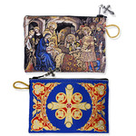 """TIP15 Nativity of Christ Rosary / Prayer Rope Tapestry Icon Pouch Case  NEW!! 5 3/8""""x4"""""""