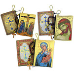 TIP-Set3 Crucifix Mary of Tenderness Christ Extreme Humility Rosary Icon Pouches Set of 3 Two Sided W/ Zipper The Best Seller Images!!