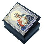 "IBX-3-IM Madonna & Child ""Im With You""  Small Rosary Case Icon Keepsake Box 2 1/4""x2"""