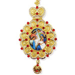 M-10-NA Christmas Decoration Nativity of Christ Angels W Red Crystals NEW