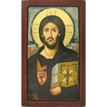 "E31026x15 Christ if Sinai The Oldest Known Icon of Christ 10""x6"""