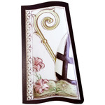 """AM756L Confirmation Wood Base Aluminum Hand-Colored Comes With Hook To Hang & Stand to Display on Desk Shelf etc 4 1/2""""x2 1/2"""""""
