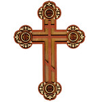 "WD-5 A Laser Cut Pan Orthodox Cross 8""x5 7/8"""
