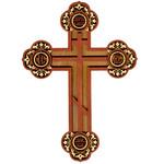 "WD-5 A Laser Cut Pan Orthodox Cross 8""x5 7/8"""