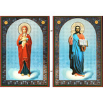 "IR-85 Christ the Teacher & Virgin Presenter of Christ 7 1/2""x10"