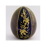 3-16B FABERGE STYLE  FLORAL CRYSTAL EGG