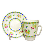 L10755  4 Cups- 1 Cup is for FREE !!   LOMONOSOV BONE CHINA CUP & SAUCER HAND DECORATED