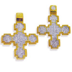 EC-5 Sterling Silver Gold Plated Reversable Cross