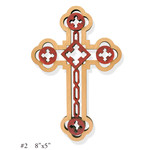 "WD-7  Wood Lazer Cut Cross NEW!!!!  8""x5 1/16"""