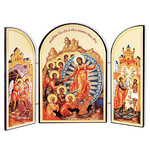 IR-717 Pascha Resurrection Russian Icon Triptych