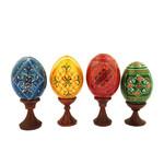 7012-5    Set of 5 Easter Assorted Colorful Ukranian Pysanki Eggs!