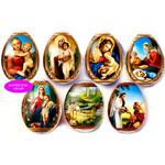 """EW-14   Egg Wraps """"Faberge""""  7 Pcs in Pack"""