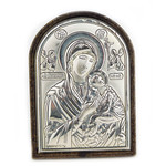 "K45G Silver Icon of St George 3 1/4""x3"""