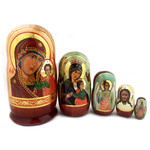 "200267 Assorted Religious Icon Dolls Wooden Hand Carved High Quality 7 1/2""x3 1/2"""