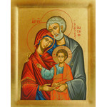"""TS483B Holy Family Serigraph Icon From Greece 5""""x4"""""""